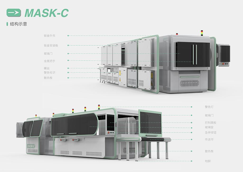 智能产品设计竞赛作品——MASK-C口罩回收转化设备