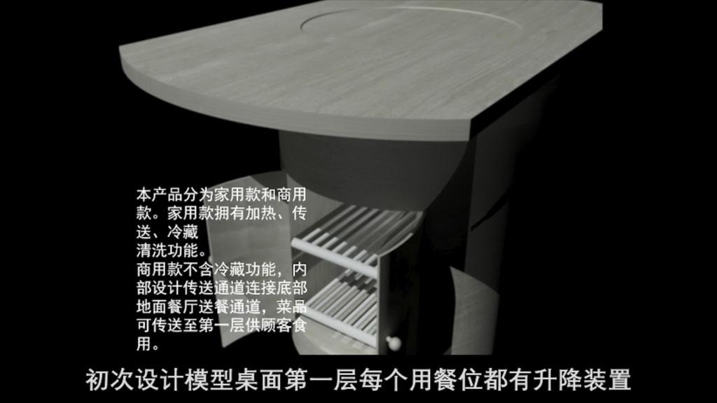 智能产品设计竞赛作品——多功能智能餐桌