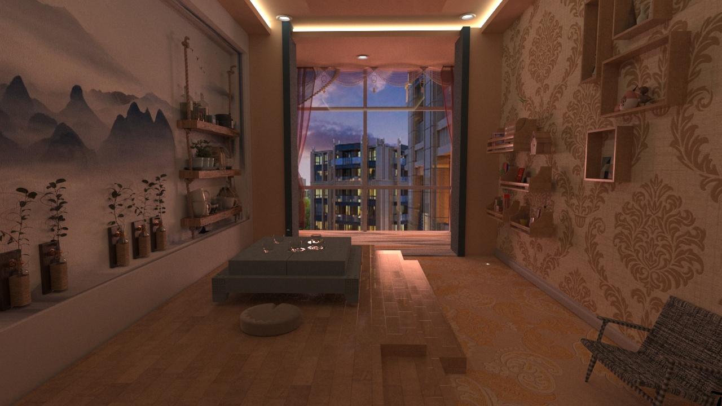 人居环境设计竞赛作品——紫汀苑后现代主义室内设计