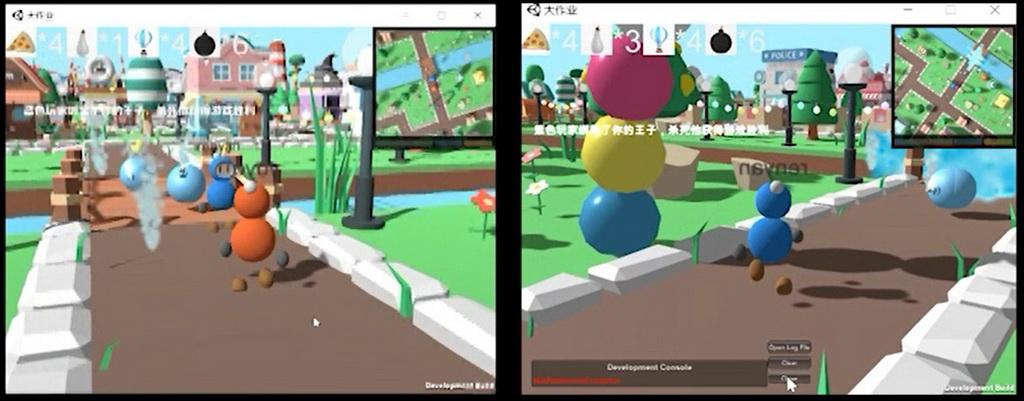虚拟现实与游戏竞赛作品——3D趣味联机泡泡堂