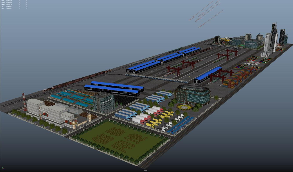 人居环境设计竞赛作品——兰州新区铁路物流中心BIM应用