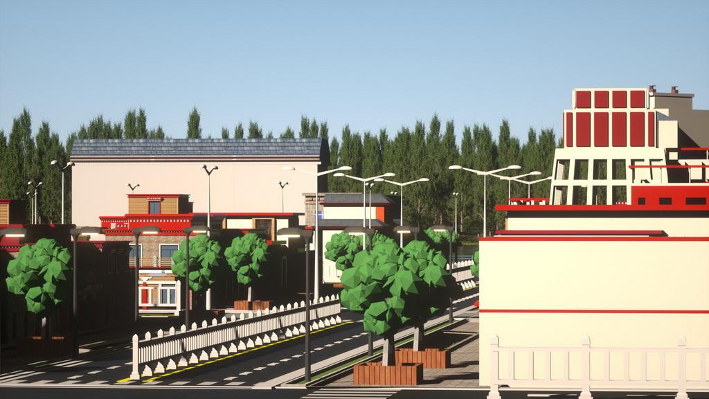 人居环境设计竞赛作品——藏式特色小镇