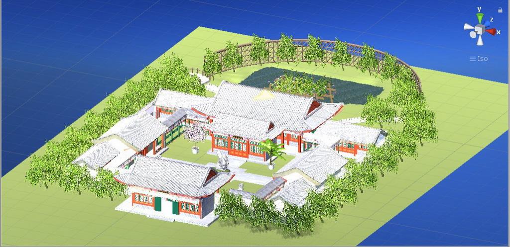 虚拟现实与游戏竞赛作品——红楼梦大观园中怡红院的虚拟漫游系统