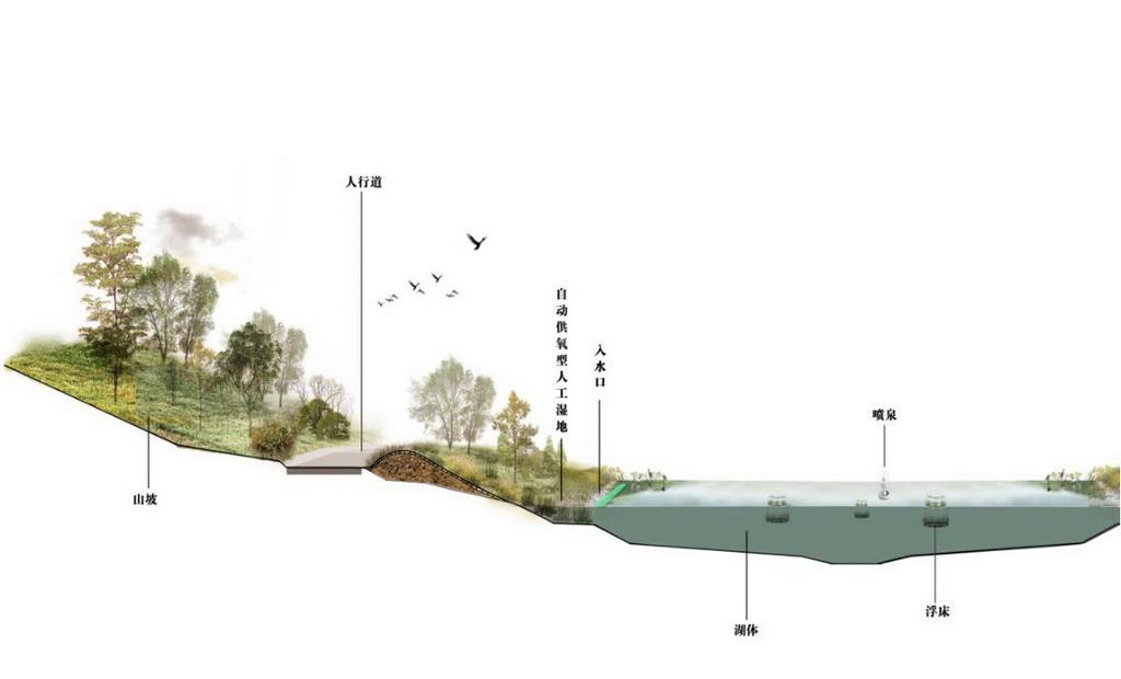 人居环境设计竞赛作品——复生态——城市生态型景观湖系统