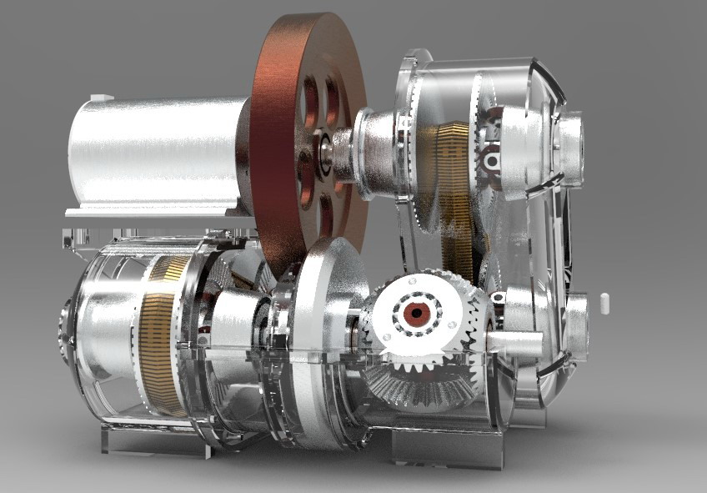 智能产品设计竞赛作品——一种基于共轴变向和无极变速技术的可调输出扭矩的动能回收器