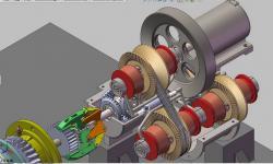 一种基于共轴变向和无极变速技术的可调输出扭矩的动能回收器